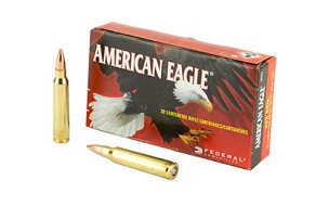 FED AM EAGLE 223REM 55G FMJ BT 20 ROUND BOX