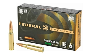 FED GOLD MEDAL 308WN 168GR BTHP 20 ROUND BOX