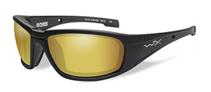 WILEY X BOSS AMBER/MBLK FRAME POLARIZED