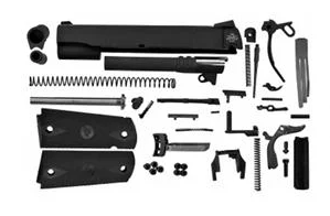 1911 9MM COMPLETE SLIDE WITH TRIGGER PARTS KIT AMBI