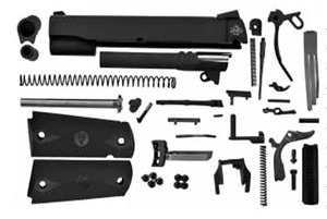 1911 45.CAL COMPLETE SLIDE WITH TRIGGER PARTS KIT AMBI
