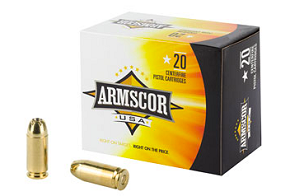 ARMSCOR 40S&W 180GR JHP 20RD BOX
