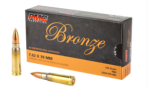PMC BRONZE 7.62X39 123GR FMJ 20RD BOX