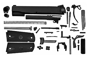 1911 45.CAL COMPLETE BUILD KIT WITH SQR TRIGGER GUARD TACTICAL ALU FRAME