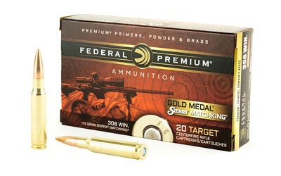FED GOLD MDL 308WN 175GR BTHP 20 RND BOX