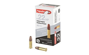 AGUILA 22LR INTERCEPTOR 40GR HP 50RD BOX