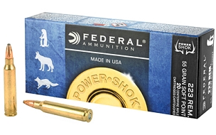 FED POWERSHOCK 223REM 55GR SP 20 ROUND BOX